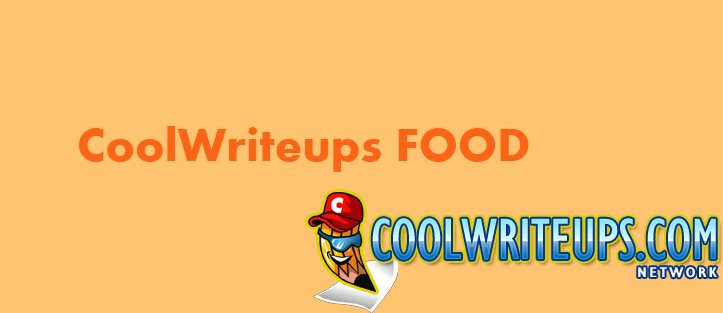 CoolWriteups Food